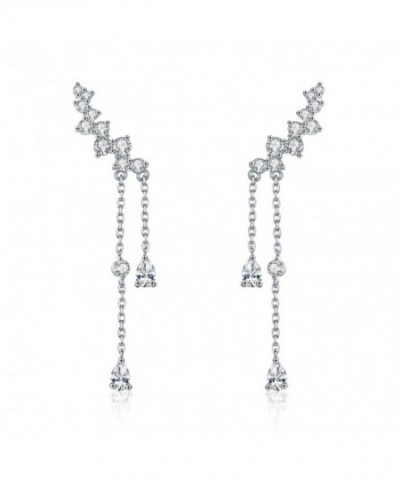 Chicinside Crystal Climbers Dangle Earrings