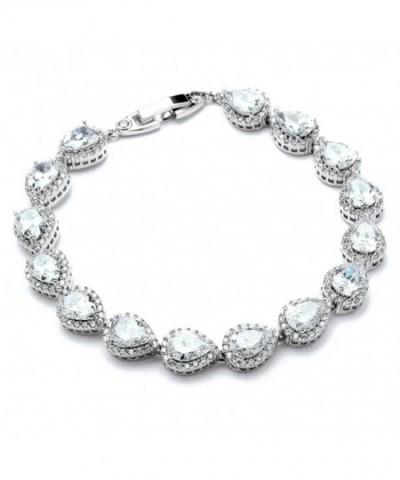 Mariell Tennis Bracelet Pear Shaped Zirconia