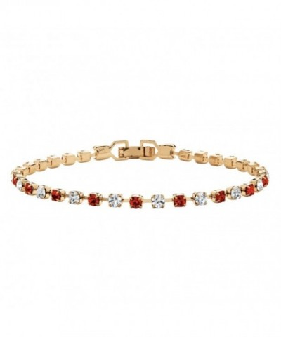 Birthstone Crystal Gold Tennis Bracelet