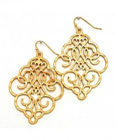Filigree Bohemian Earrings Lightweight Dangles