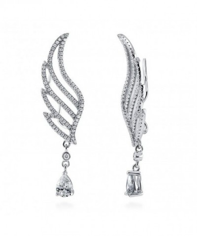 BERRICLE Rhodium Sterling Zirconia Crawlers