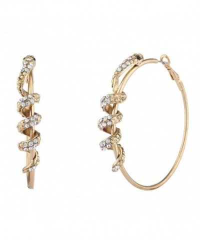 Lux Accessories Crystal Rhinestone Serpent Wrapped
