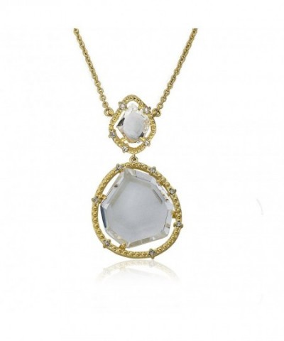 Riccova Sliced Gold Plated Pendant Necklace