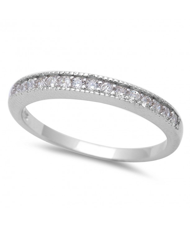 Ladies Micro Zirconia Sterling Silver