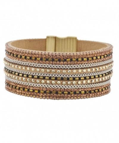 Lux Accessories Studded Magnetic Bracelet