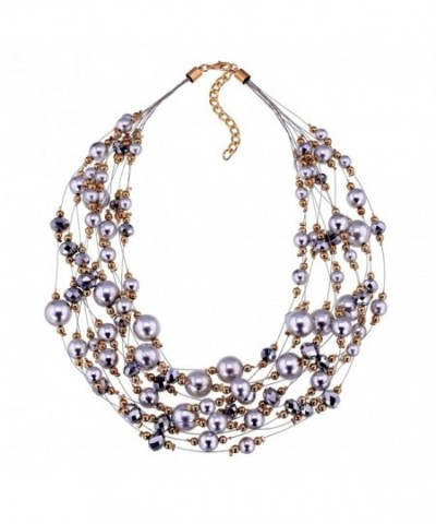 Jewelry Simulated Crystal Statement Necklace