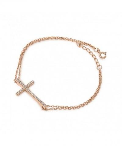 Plated Sideways Sterling Silver Bracelet