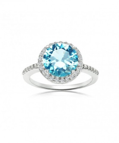 Sterling Silver Simulated Cubic Zirconia
