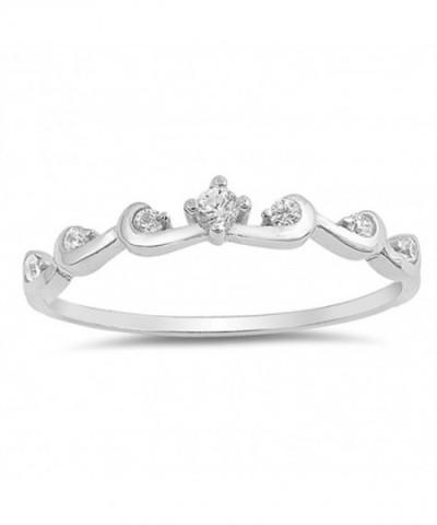 Clear Swirl Elegant Sterling Silver