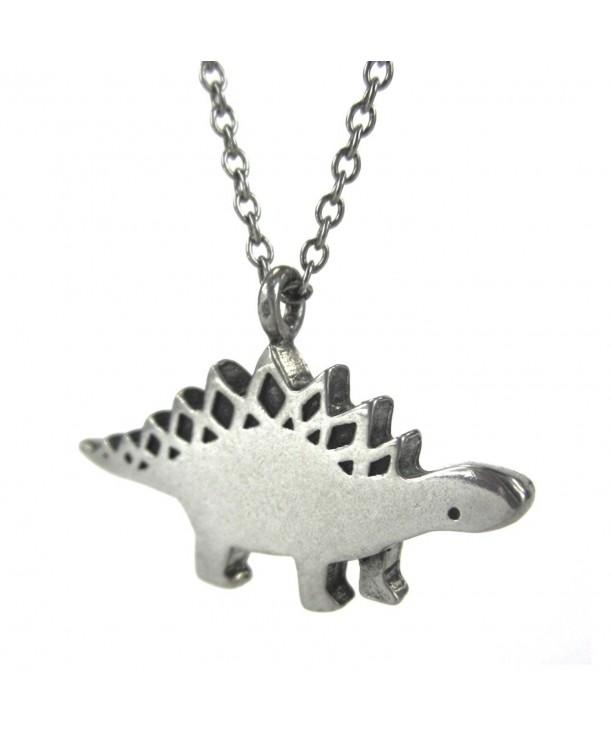 Mark Poulin Necklace Stegasaurus Dinosaur