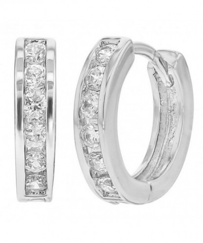 NYC Sterling Zirconia Earrings Silver