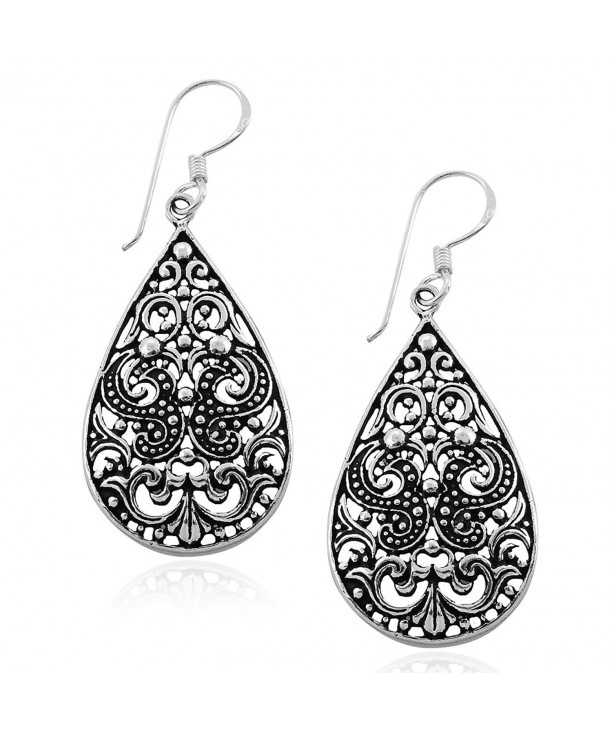 6aa041b1a MIMI 925 Oxidized Sterling Silver Bali Inspired Filigree Scroll ...