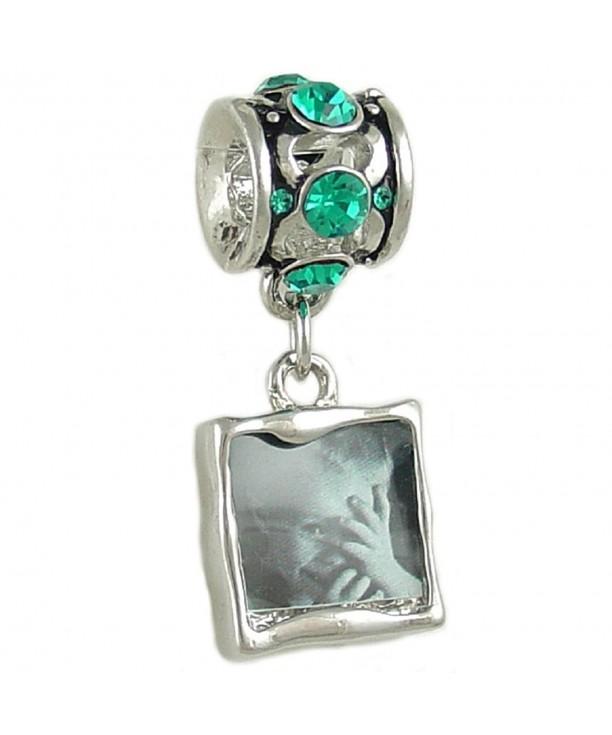 Photo Crystal Silver Tone European Bracelet