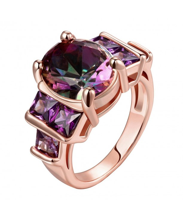 Amethyst Plated Crystal Cocktail Jewelry