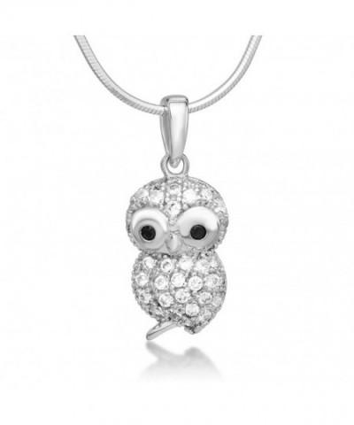 Sterling Silver Zirconia Pendant Necklace