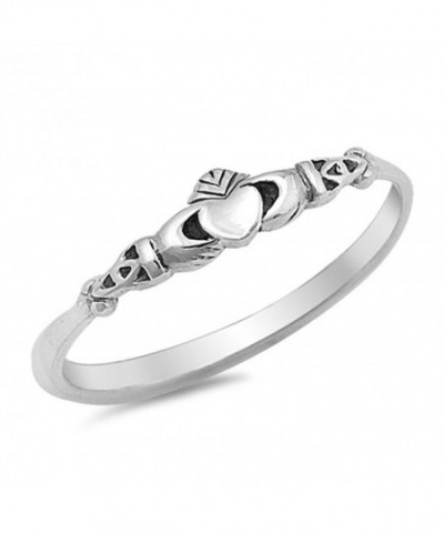 Claddagh Celtic Beautiful Sterling Silver