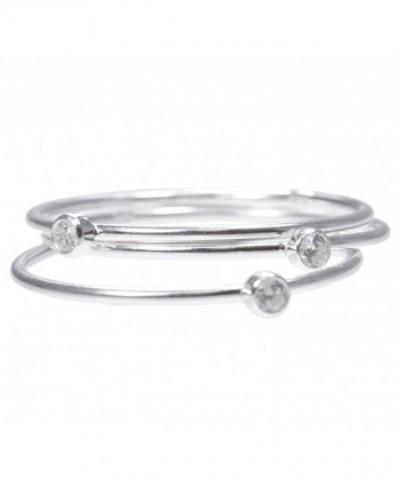 Sterling Silver White Stacking Rings