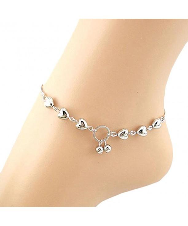 Womens Ankle Bracelet Heart Cherries Women Barefoot Sandal Beach Foot Jewelry Cz12i7hxcrr