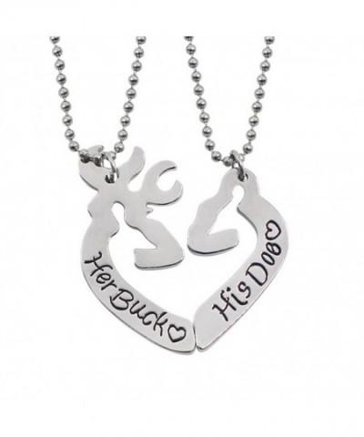 Heart Couple Engraved Pendant Necklace