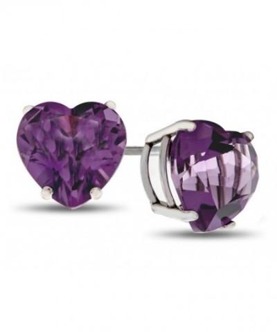 Finejewelers Amethyst Friction Back Earrings Sterling