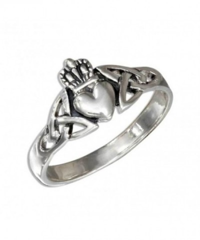 Sterling Silver Claddagh Celtic Triquetra