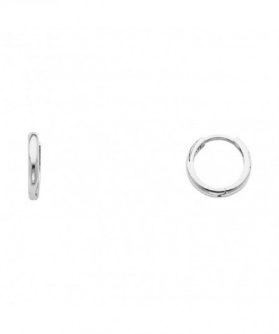 White 1 5mm Thickness Huggie Earrings
