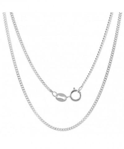 Sterling Silver Cuban Anklet Nickel