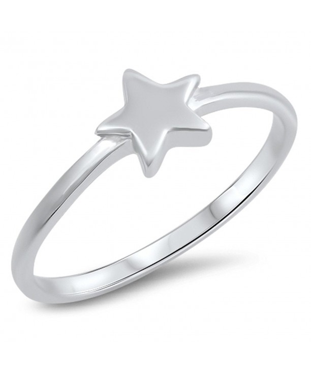 Classic Star Sterling Silver Simple