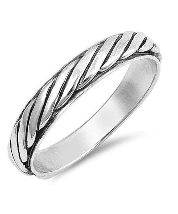 Eternity Twisted Thumb Sterling Silver