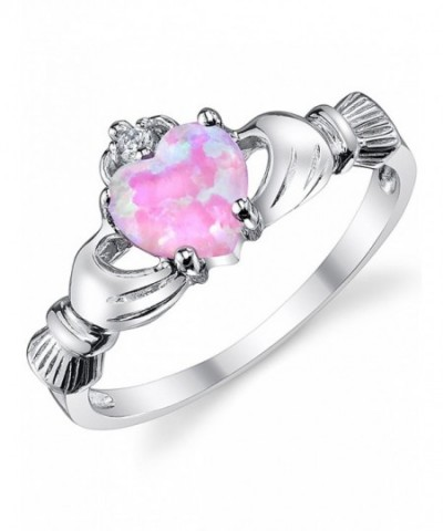Sterling Silver Claddagh Friendship Simulated