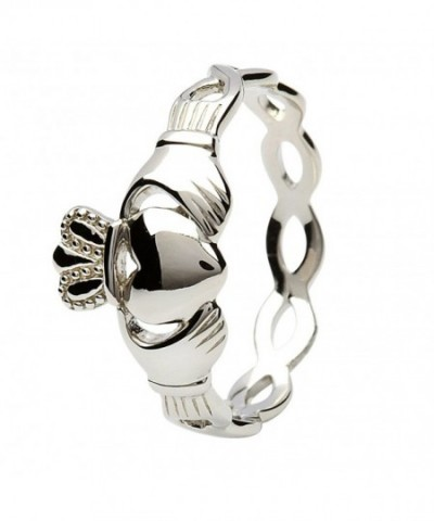 Womens Sterling Claddagh Ring Infinity