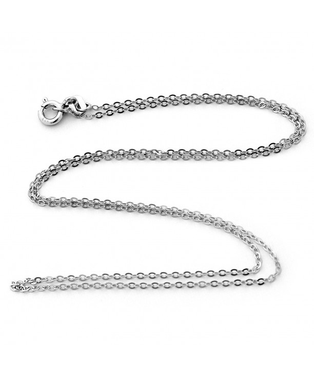 Rhodium Plated 1.3mm Sterling Silver Snake Style Chain