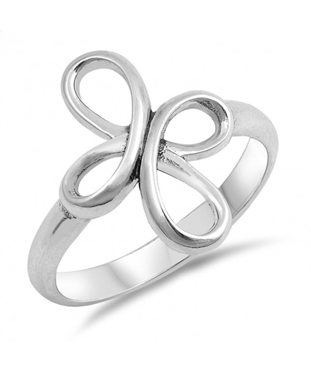 Swirl Infinity Cross Sterling Silver