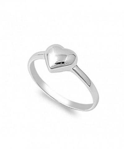 Sterling Silver Womens Plain Promise
