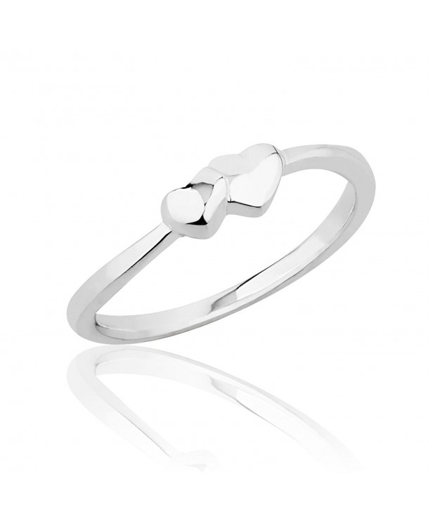Sterling Silver Intertwined Hearts Knuckle