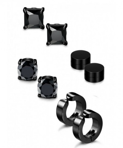 Jstyle Stainless Earrings Magnetic Non piercing