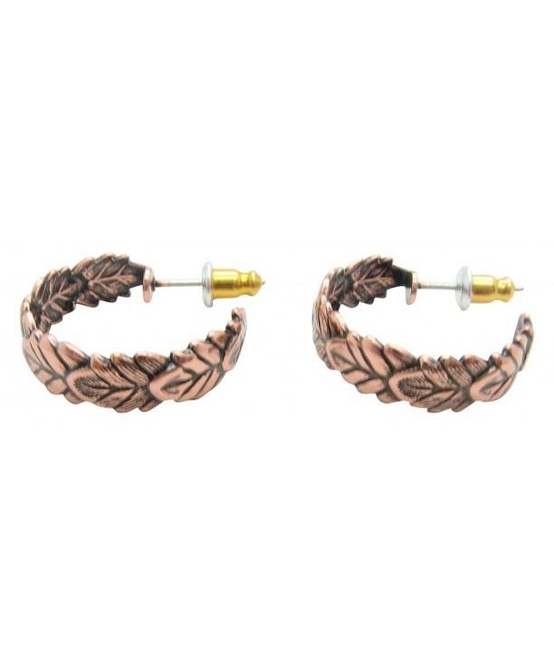 Copper Hoop Earrings CE2655C02 diameter