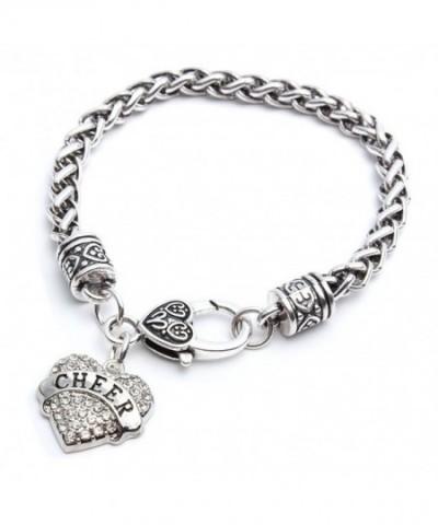 Heart Cheer Bracelet Women Charm