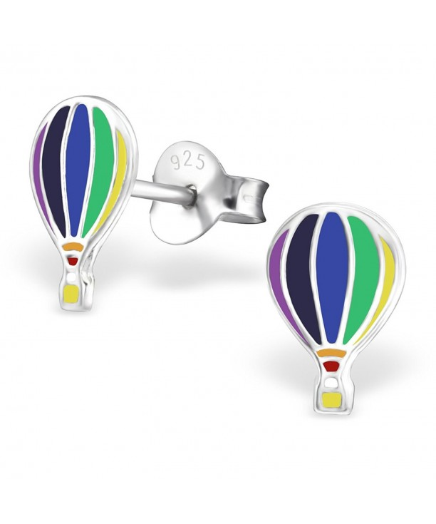 Details about  /ICYROSE LIMITED 925 STERLING SILVER HOT AIR BALLOON KIDS STUD EARRINGS 101