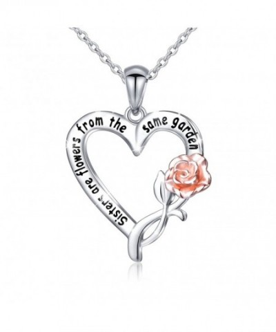 Sterling Sisters Flowers Pendant Necklace