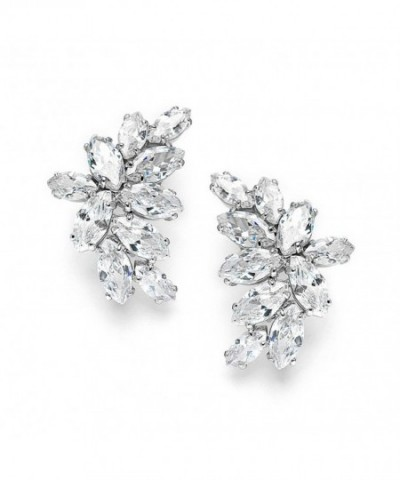 Mariell Wedding Earrings Marquis Cut Clusters