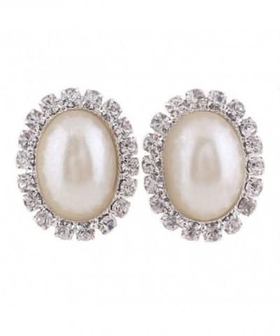 Bridal Rhinestone Simulated Pearl Earrings