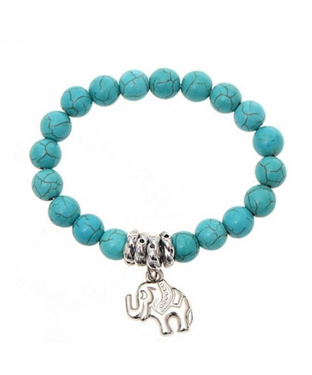 Elephant Turquoise Bracelet Handmade Accessories