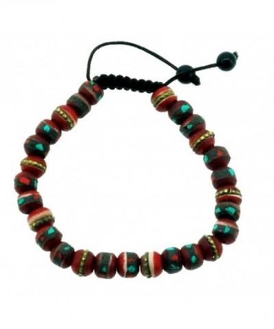 Red Medicine Beads Wrist Mala
