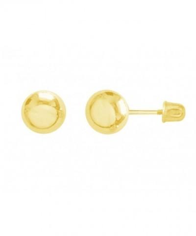 Yellow Earrings Screw Backs Millimeters