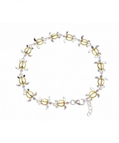 sterling silver Hawaiian turtle anklet