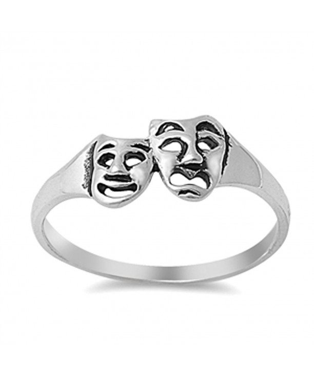 Tragedy Comedy Theatre Sterling Silver