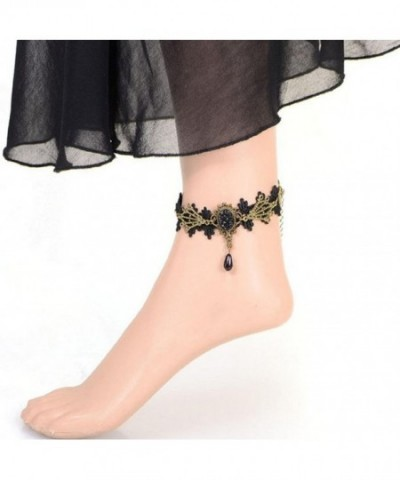 Fashion Jewelry Gothic Flower Anklets