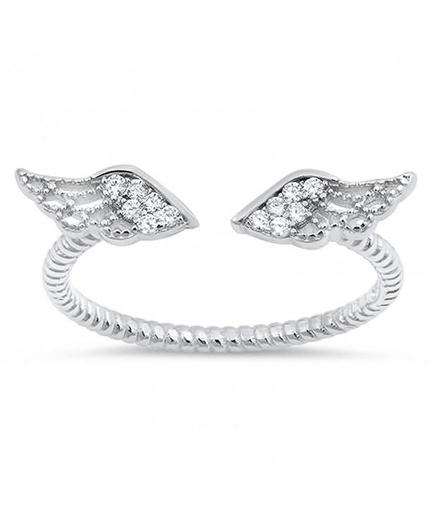 Angel Wings White Sterling Silver