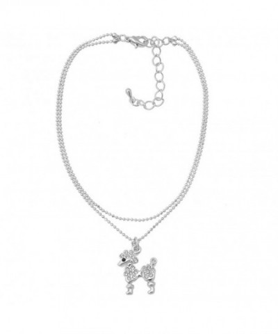 Spinningdaisy Silver Plated Poodle Anklet